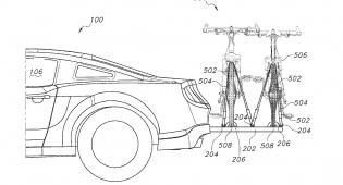 רישום הפטנט - הפטנט הבלעדי של פורד לנשיאת אופניים