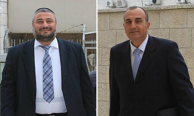אלי כהן ומשה אבוטבול בכניסה לבית המשפט