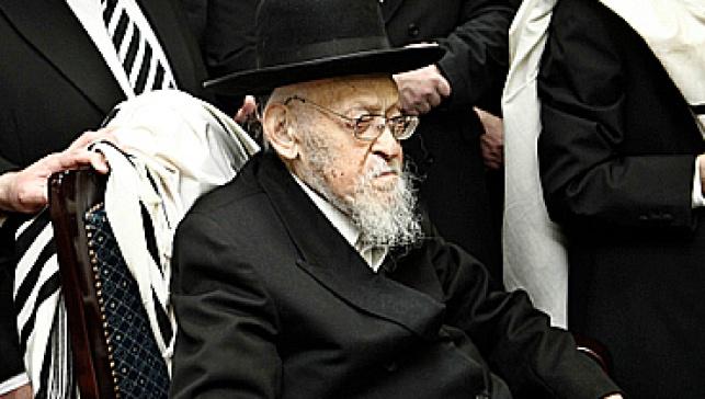 מרן הרב יוסף שלום אלישיב (צילום: פלאש 90)