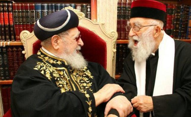 """הרב מאמאן זצ""""ל לצד מרן פוסק הדור רבינו עובדיה יוסף זצ""""ל"""