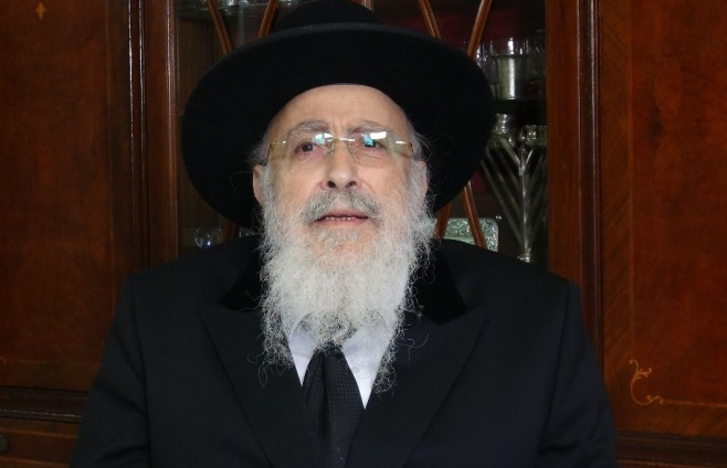 הגאון רבי שמעון אליטוב עם וורט לכבוד שבת