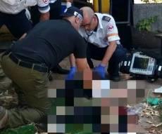 זירת האירוע - צעיר ניסה לשדוד סניף בנק ונפצע קשה מירי