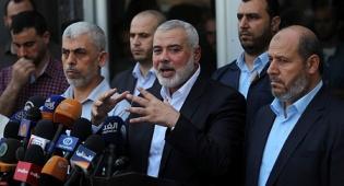 """בכירי חמאס לאחר הפסקת אש בתיווך הפת""""ח ב-2017"""