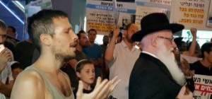 """מחאה נגד תח""""צ בשבת"""