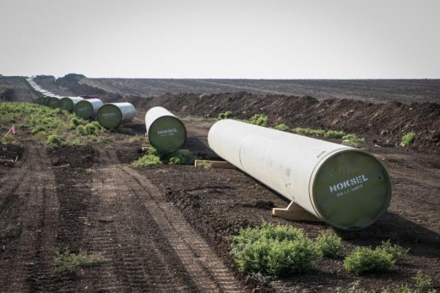 הצינורות שיובילו ממאגר הגז תמר לאזור התעשייה ליד חיפה