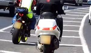 תיעוד: האופנוענים נסעו על שטחי ההפרדה