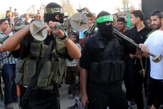 פעילי חמאס בהפסקת האש בצוק איתן