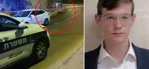 """הבחור שמואל אהרן גליק ז""""ל על רקע זירת התאונה"""