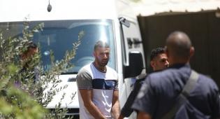 החשוד בהצתה, מוחמד ג'עברי בבית המשפט