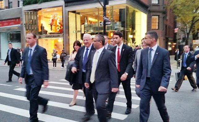 הנשיא ריבלין ברחובות ניו יורק