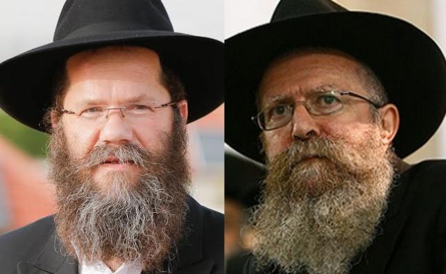 הרב מנחם ברוד והרב מאיר אשכנזי