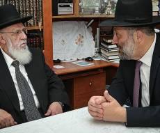 """אריה דרעי עם נשיא המועצת - בנו של נשיא המועצת התבטא נגד דרעי: """"לא בא להתייעץ"""""""