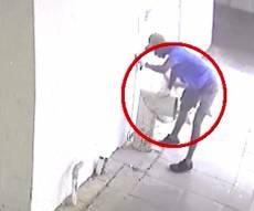 הגנב נתפס בזכות דגימת דם על הצינור. צפו