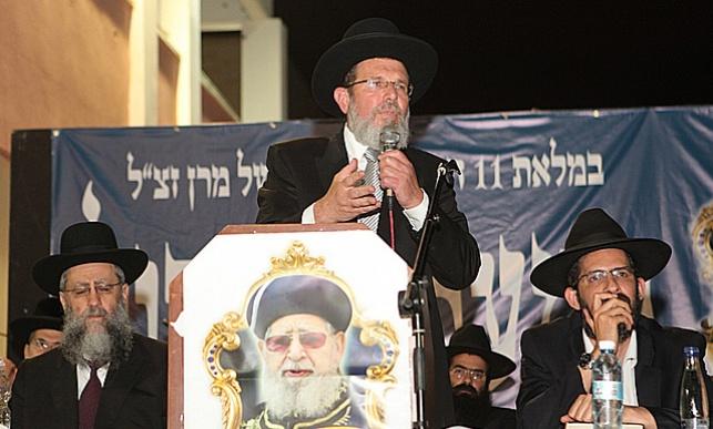 הרב קלמן בר נושא דברים בעצרת