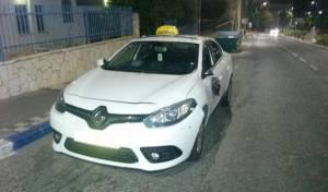 המונית בזירת התאונה - צעירה חרדית נפצעה קשה בתאונה בטבריה