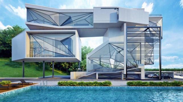 בית יפהפה שנבנה בבנייה ירוקה