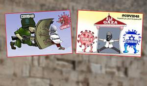 קריקטורות אנטישמיות על רקע הכותל המערבי
