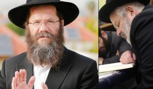 הרב דרוקמן לצד הרב אשכנזי. ארכיון