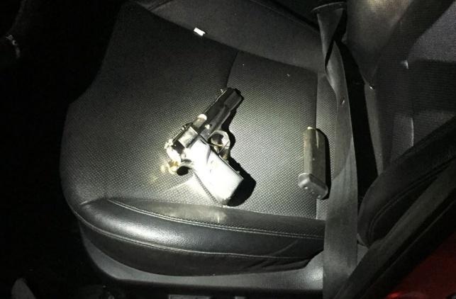 אקדח שנתפס