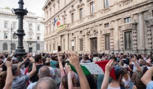 מחאת מתנגדי חיסונים באיטליה