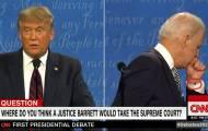 """סוער בארה""""ב: ביידן בעימות נעזר באוזנייה?"""