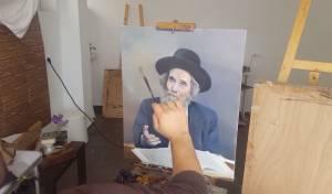 """צייר הפורטרטים הנציח את הגראי""""ל • צפו"""