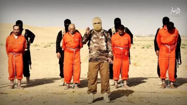 """עריפת ראשים בידי אנשי דאע""""ש"""