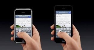 אייפון 5 (מימין) לצד אייפון 4S (משמאל) - המבקרים מאוכזבים: תם עידן