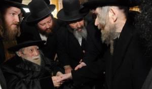 """מרן הרב שטיינמן עם הרבי מערלוי זצ""""ל - הארת הפנים של מרן הגראי""""ל לרבי מערלוי"""