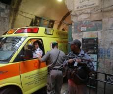 זירת הפיגוע הקשה - פיגוע בעיר העתיקה בירושלים; המחבל נוטרל