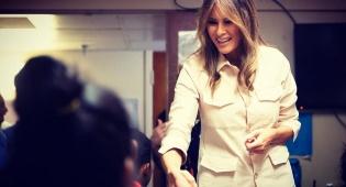 מלניה טראמפ במחנה הילדים