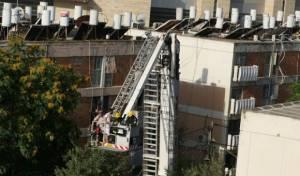 חילוץ לכודים במנוף מכבי האש