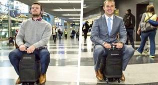 המזוודה הממונעת הראשונה בעולם - זו המזוודה הכי ביזארית או גאונית שתראו