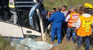 """נהג האוטובוס החרדי שנפצע נפטר בביה""""ח"""
