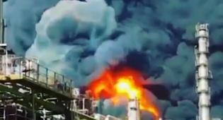 שריפת ענק באיראן