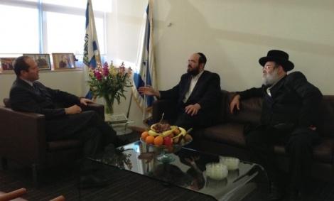 שרייבר ובריסק עם ראש העיר ברקת