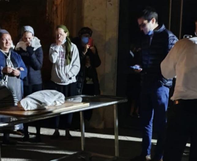 טרגדיה: יקי אדמקר ליווה את בתו למנוחות