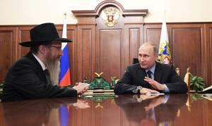 פוטין והרב לאזאר - המאכל האהוב על פוטין - מצה של היהודים