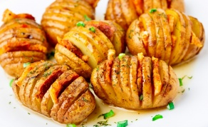 תפוחי אדמה אקורדיון אפויים עם פסטרמה