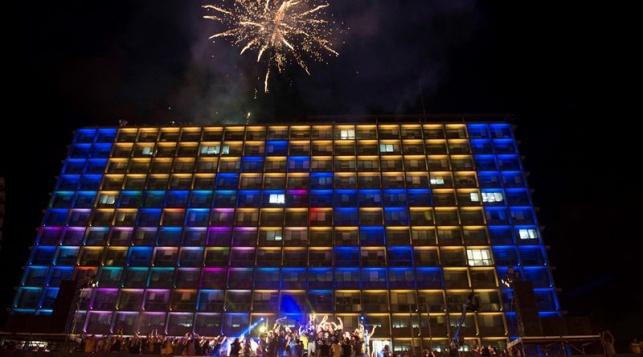 חגיגות הזכייה אמש בכיכר רבין בתל אביב