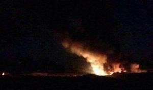 תקיפה בסוריה שיוחסה לישראל. ארכיון - דיווחים: ישראל תקפה שיירת נשק בסוריה