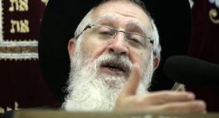 הרב יעקב יוסף, השבוע (צילום: פלאש 90)