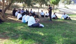 התלמידים במהלך הפעילות