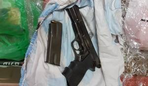 האקדח שנתפס אצל הערבי