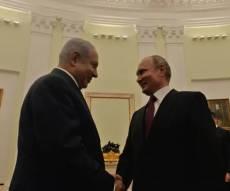 נתניהו ונשיא רוסיה פוטין בפגישתם במוסקבה