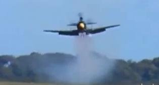 המטוס התרסק לעיני עשרות אלפים
