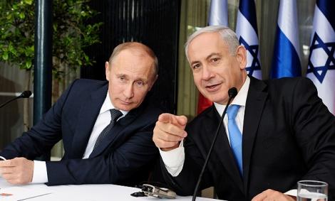 נשיא רוסיה ולדימיר פוטין ונתניהו
