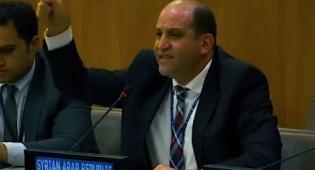 הנציג הסורי צרח והמיקרופון כובה • צפו