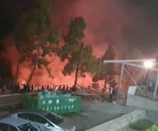 שריפה ביער מירון: להבות ענק בסמוך לציון