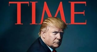 """טראמפ על שער המגזין - איש השנה של מגזין """"טיים"""": הנשיא הנבחר טראמפ"""